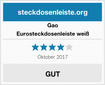 Gao Eurosteckdosenleiste weiß Test