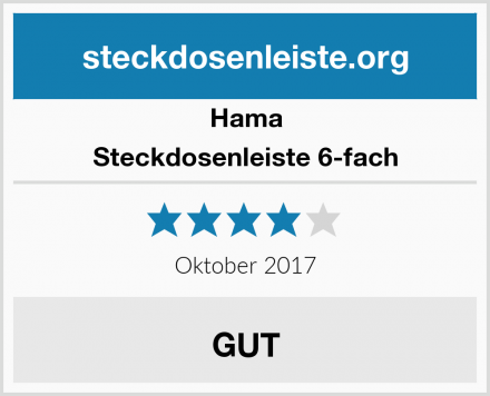 Hama Steckdosenleiste 6-fach Test