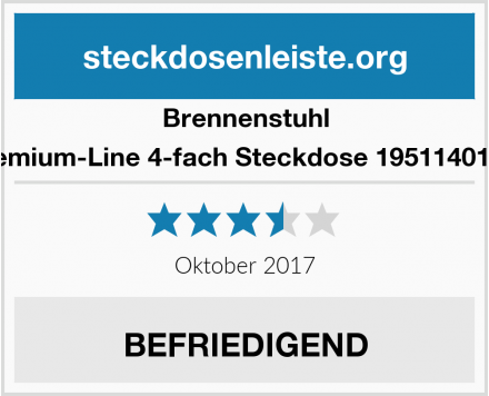 Brennenstuhl Premium-Line 4-fach Steckdose 1951140100  Test