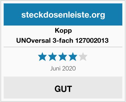 Kopp UNOversal 3-fach 127002013  Test