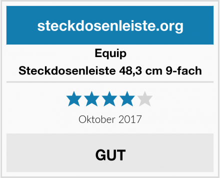 Equip Steckdosenleiste 48,3 cm 9-fach Test