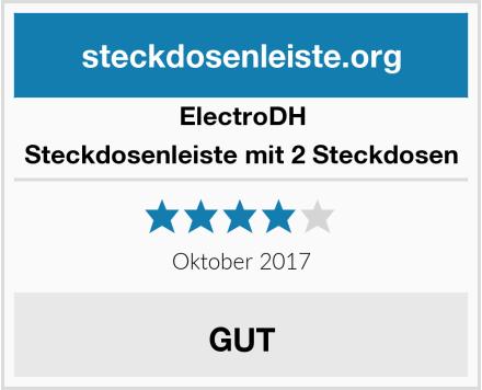 ElectroDH Steckdosenleiste mit 2 Steckdosen Test