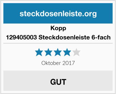 Kopp 129405003 Steckdosenleiste 6-fach Test
