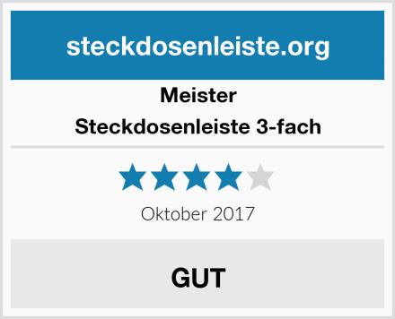 Meister Steckdosenleiste 3-fach Test