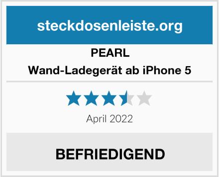 PEARL Wand-Ladegerät ab iPhone 5 Test