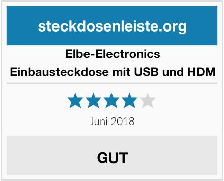 Elbe-Electronics Einbausteckdose mit USB und HDM Test