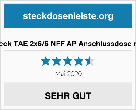 No Name Rutenbeck TAE 2x6/6 NFF AP Anschlussdose reinweiß Test