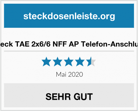 No Name Rutenbeck TAE 2x6/6 NFF AP Telefon-Anschlussdose Test