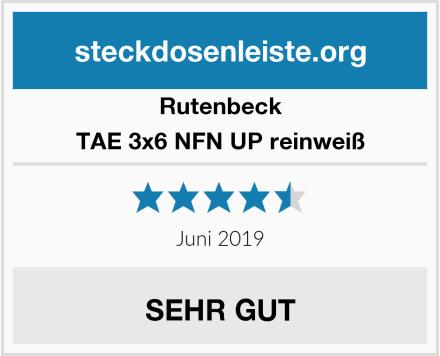 Rutenbeck TAE 3x6 NFN UP reinweiß Test