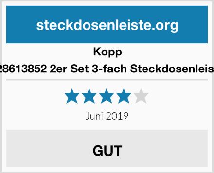 Kopp 128613852 2er Set 3-fach Steckdosenleiste Test