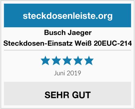 Busch-Jaeger Steckdosen-Einsatz Weiß 20EUC-214 Test