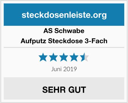 AS Schwabe Aufputz Steckdose 3-Fach Test