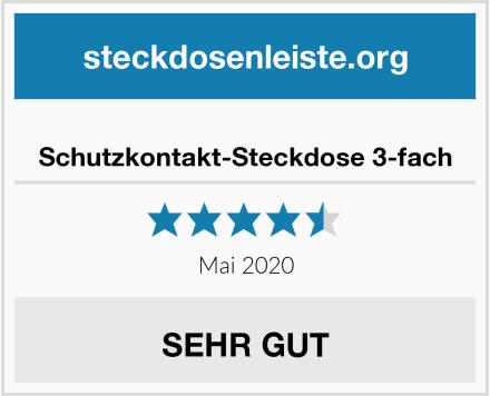 No Name Schutzkontakt-Steckdose 3-fach Test