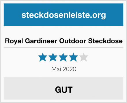 Royal Gardineer Outdoor Steckdose Test