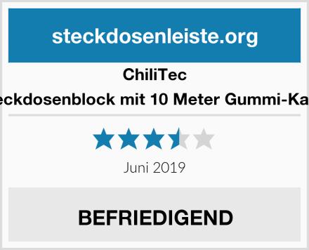 ChillTec Steckdosenblock mit 10 Meter Gummi-Kabel Test