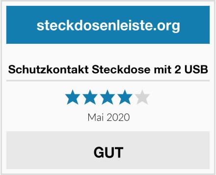 No Name Schutzkontakt Steckdose mit 2 USB Test