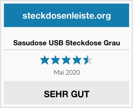 No Name Sasudose USB Steckdose Grau Test