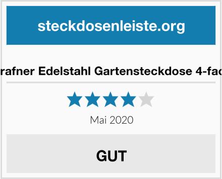 No Name Grafner Edelstahl Gartensteckdose 4-fach Test