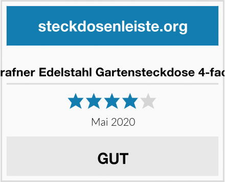 Grafner Edelstahl Gartensteckdose 4-fach Test