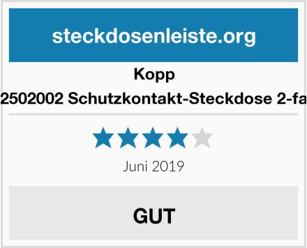Kopp 102502002 Schutzkontakt-Steckdose 2-fach Test