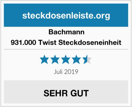 Bachmann 931.000 Twist Steckdoseneinheit Test