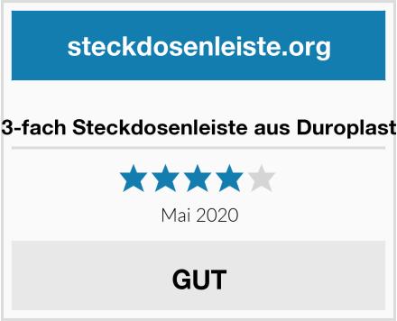 3-fach Steckdosenleiste aus Duroplast Test