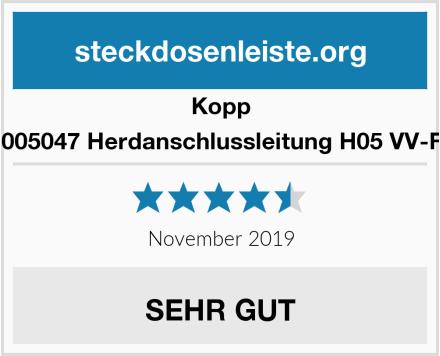 Kopp 156005047 Herdanschlussleitung H05 VV-F 5G Test