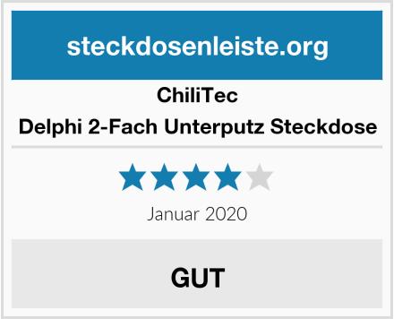 ChillTec Delphi 2-Fach Unterputz Steckdose Test