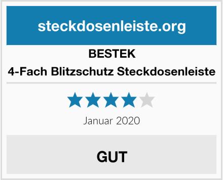 BESTEK 4-Fach Blitzschutz Steckdosenleiste Test