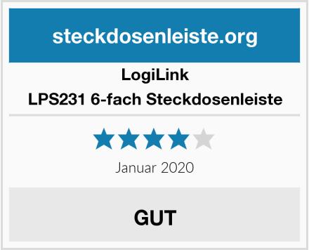 LogiLink LPS231 6-fach Steckdosenleiste Test