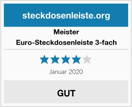 Meister Euro-Steckdosenleiste 3-fach Test