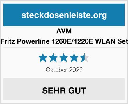 AVM Fritz Powerline 1260E/1220E WLAN Set Test