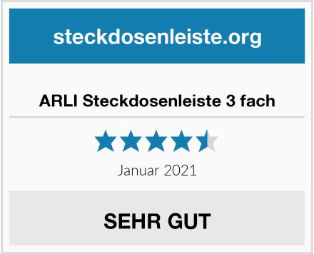 ARLI Steckdosenleiste 3 fach Test
