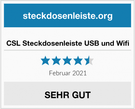 CSL Steckdosenleiste USB und Wifi Test