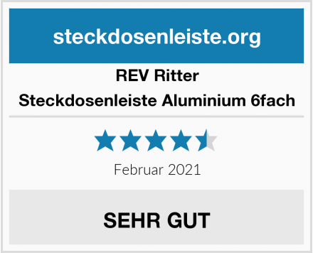 REV Ritter Steckdosenleiste Aluminium 6fach Test