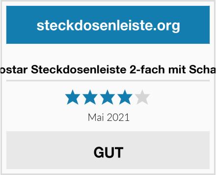 Aigostar Steckdosenleiste 2-fach mit Schalter Test