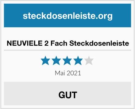 NEUVIELE 2 Fach Steckdosenleiste Test
