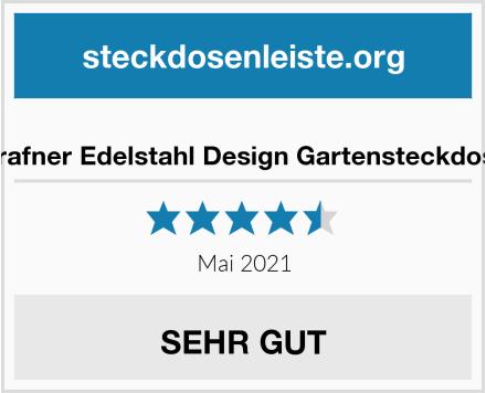 Grafner Edelstahl Design Gartensteckdose Test