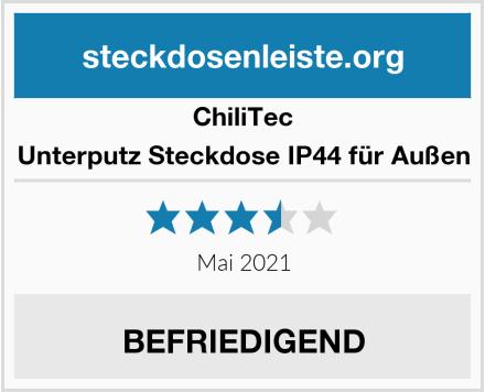 ChillTec Unterputz Steckdose IP44 für Außen Test