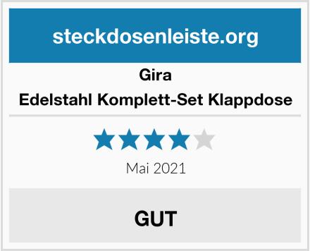 Gira Edelstahl Komplett-Set Klappdose Test