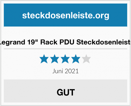"Legrand 19"" Rack PDU Steckdosenleiste Test"