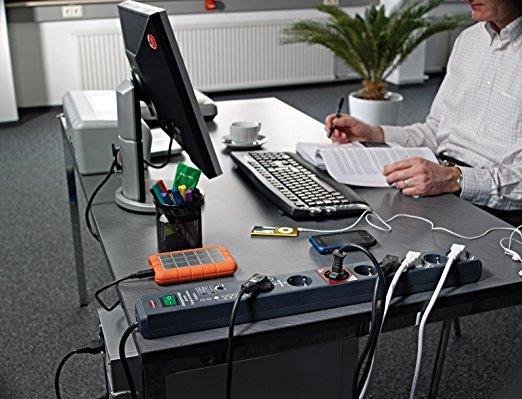Brennenstuhl Secure-Tec Steckdosenleiste 6-fach