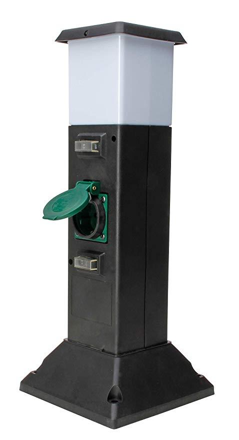Kopp Energiesäule mit 2 Schutzkontaktsteckdosen