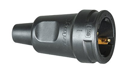 Kopp Schutzkontakt-Gummikupplung mit Knickschutztülle