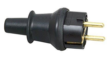Kopp Schutzkontakt-Stecker mit Knickschutztülle