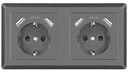 No Name Topular Doppelsteckdose mit USB