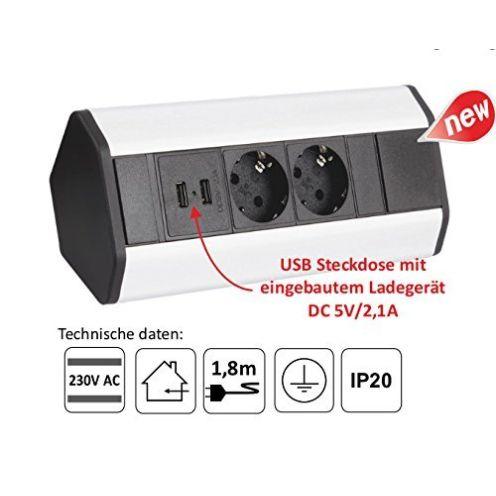 DL 2x USB Küchen Steckdose