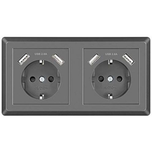 Topular Doppelsteckdose mit USB